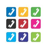 Set phone colorful icons Stock Photography