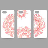 Set Phone cover collection. Hand drawn ethnic Stock Image