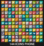 Set phone icon Stock Images