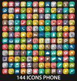 Set phone icon Royalty Free Stock Images