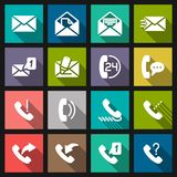 Set phone icon Stock Photography