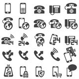 Set of phone icons. Silhouettes Royalty Free Stock Images