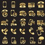 Set of phone icons. Silhouettes Royalty Free Stock Image