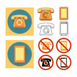 Set phone Stock Photography