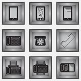 Set of 9 phone icons Stock Photos