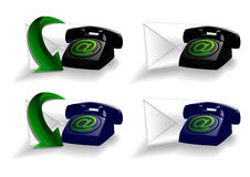 Set of Phone and Mail icons Stock Image