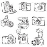 Set of Photo cameras Royalty Free Stock Photography