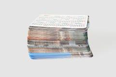 Set photo cards Stock Image