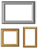 Set of photo frames Stock Photos
