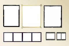 Set of photo frames. Including medum. large and normal format, plus instant picture frame Royalty Free Stock Photos