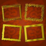 Set of photo frames on abstract background. Vector set of photo frames on abstract background Royalty Free Stock Photography