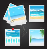 Set photo frames with beaches Royalty Free Stock Photo