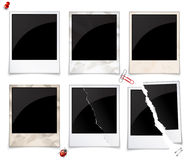 Set of photo frames. Set of empty polaroid photo frames Royalty Free Stock Image