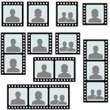 Set photo frames picture slide Stock Photo