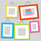 Set Of Photo Frames On A Wall Royalty Free Stock Photography
