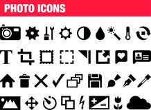 Set of photo icons Royalty Free Stock Photography