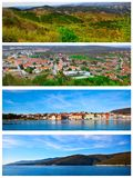 Set of photo of the Istrian part Royalty Free Stock Photography