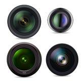 Set of Photo Lens isolated on white background Stock Image
