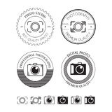 Set of photo logos, labels, badges and design elements Stock Photography