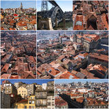 Set of photo from Porto in Portugal Stock Photo