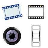 Set of photographic objects Stock Photography