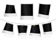 Set of photographs. Vector art Stock Images