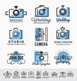 Set of photography and camera service logo. Insignia design. vector illustration stock photography
