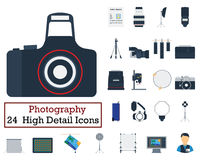Set of 24 Photography Icons Stock Photo