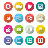 Set of  photography icons in flat design set 1 Royalty Free Stock Image