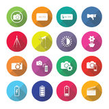 Set of  photography icons in flat design set 2 Stock Image