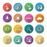 Set of  photography icons in flat design set 4 Royalty Free Stock Photo