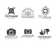 Set of photography logo. Vector Icons for Photographers, Photo camera vector illustration Stock Image