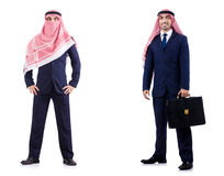 The set of photos with arab businessman Royalty Free Stock Images