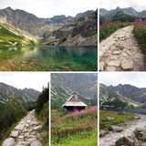 Set of photos from Black Pond Gasienicowy in Tatra Stock Photo