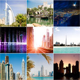 Set  of photos from Dubai Royalty Free Stock Photography