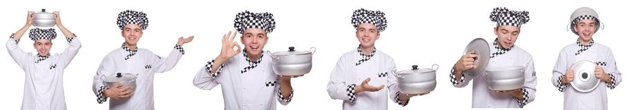 The set of photos with funny cook Royalty Free Stock Photos
