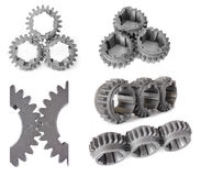 Set of photos gears Royalty Free Stock Images