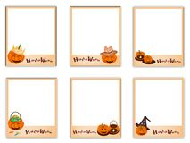 Set of Photos with Halloween Evil and Item Royalty Free Stock Photography