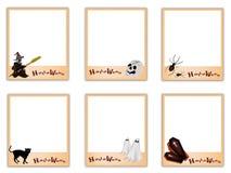 Set of Photos with Happy Halloween Pumpkin Stock Photo