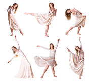 Set of photos modern style dancer Stock Photo