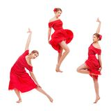 Set of photos modern style dancer Stock Photography