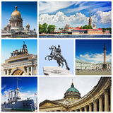 Set photos of St Petersburg's attractions Stock Photo