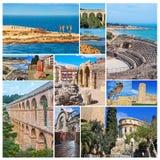 Set of photos - Tarragona landmarks, Spain Royalty Free Stock Photo