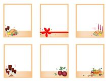 Set of Photos withTraditional Christmas Dinner Royalty Free Stock Images