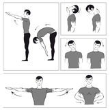 Set of physical exercises Stock Photos
