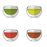 Set pić puchary z dwoistymi ścianami Zdjęcia Stock