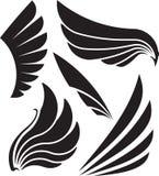 Set pięć dekoracyjnych skrzydeł również zwrócić corel ilustracji wektora Fotografia Stock