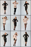 Set Piękna młoda kobieta. Pracowniana fotografia. Obrazy Stock