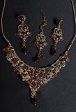Set Piękna Orientalna złocista biżuteria (indianin, arab, afrykanin, E Zdjęcia Stock
