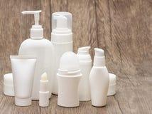 Set piękno produkty z kopii przestrzenią Zdjęcie Royalty Free